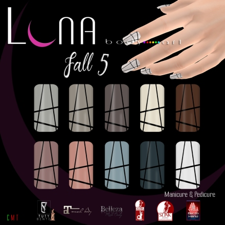 LUNA Body Art Fall 5 Nails