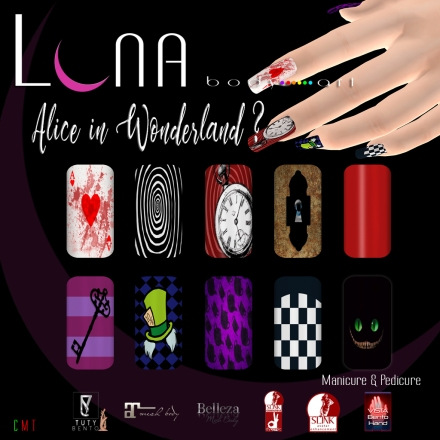 LUNA Body Art Alice in Wonderland? Nails