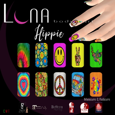 LUNA Body Art Hippie Nails