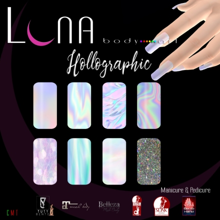 LUNA Body Art Hollographic Nails